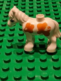 B-keuze Duplo paard  veulen wit met bruine stippen beschadigd