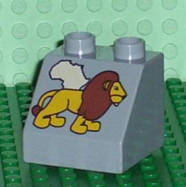 Lego Duplo dierentuin blokje met leeuw
