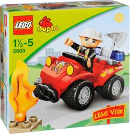 Lego Duplo brandweer commandant 5603 met doos