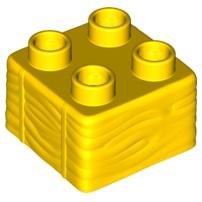 Duplo blok 2x2 geel met hooi profiel nieuw 69716