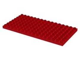 Duplo bouwplaat 8x16 rood