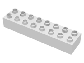 Duplo blokken : 2x8 duplo blokje wit