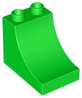 Duplo blokken : 2x3x2 met curve licht groen