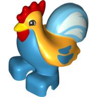 Duplo dieren : kip / haan 2 gekleurd nieuw