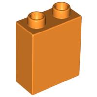 Duplo blokken 1x2x2 bouwstenen oranje