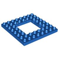 Duplo bouw plaat 8x8 blauw met opening