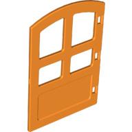 Duplo deur met ronde bovenkant - oranje