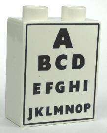 Duplo blokje oogkaart