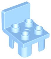 Duplo onderdelen : stoel licht blauw