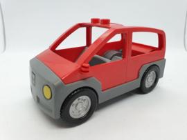 Lego Duplo auto rood hoog model