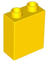 Duplo blokken 1x2x2 bouwstenen geel