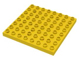Duplo plaat 8x8 geel