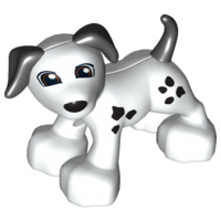 Wit hondje met zwarte stippen