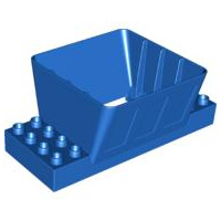 Laadbak Silo container blauw