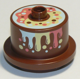 Duplo chocolade taart met regenboog topping (nieuw)