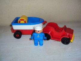 Duplo auto met trailer 2626