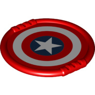 Duplo disk/bord met Captain America logo - nieuw 27372pb07