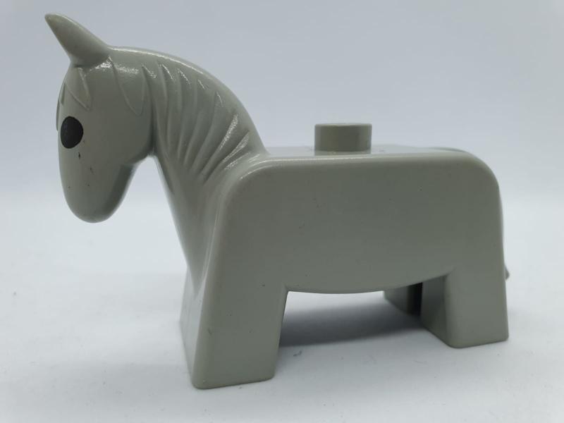 Duplo paard grijs retro