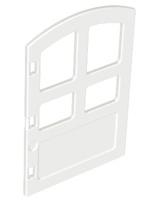 Duplo deur met ronde bovenkant - wit