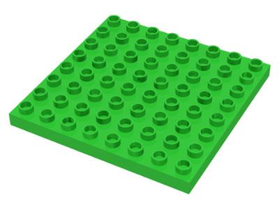 Duplo bouwplaat 8x8 licht groen