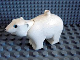 Volwassen ijsbeer met beweegbare nek