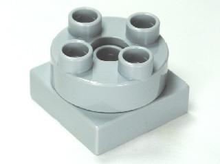 Draaischijf grijs 2x2 ronde bovenkant