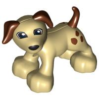 Duplo dieren : hondje met bruine stippen