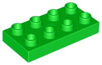 Duplo bouwplaat 2x4 x 1/2 licht groen