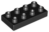 Duplo bouwplaat 2x4 x 1/2 zwart