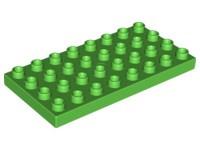 Duplo bouwplaat 4x8 licht groen