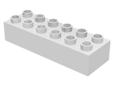 Duplo blokken - 2x 6 noppen wit Nieuw-ongebruikt