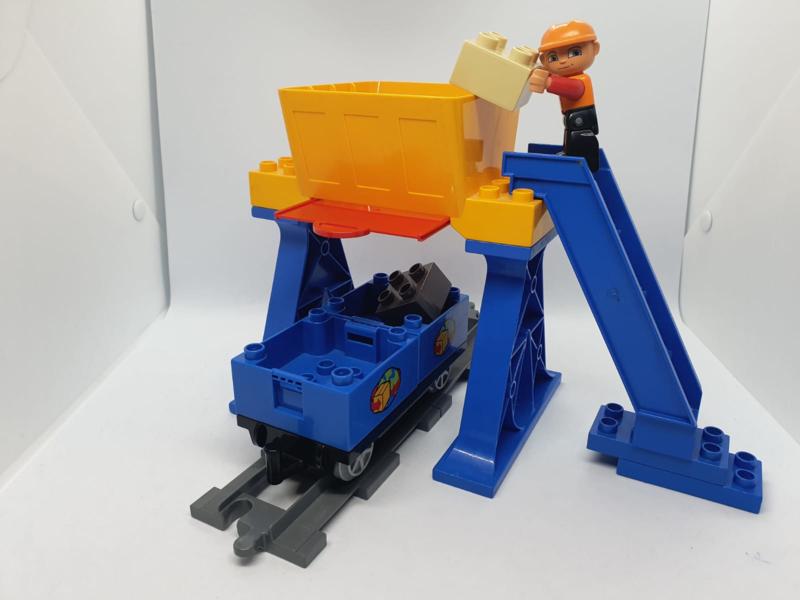 Lego Duplo trein Silo compleet