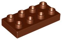 Duplo bouwplaat 2x4 x 1/2 bruin