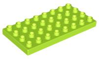 Duplo bouwplaat 4x8 lime