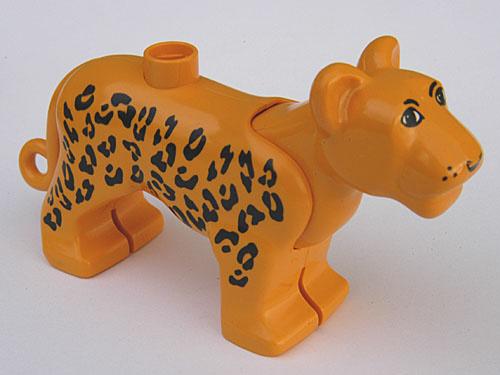 Duplo Luipaard volwassen eerste editie met bewegbaar hoofd