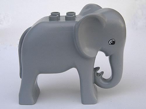 Duplo dieren : Olifant, hoofd recht, groot formaat / volwassen