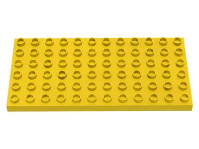 Duplo bouwplaat 6x12 geel