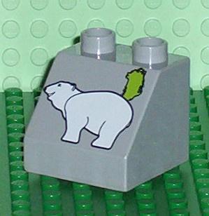 Lego Duplo dierentuin blokje met ijsbeer