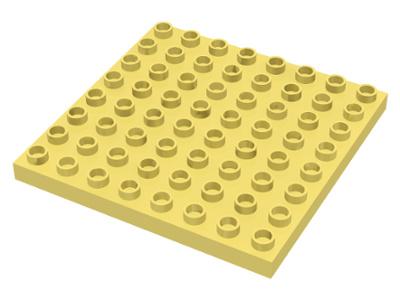Duplo bouwplaat 8x8 licht geel