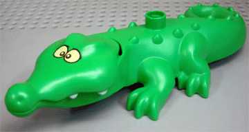 Lego Duplo dierentuin dieren krokodil derde editie gekruisde ogen