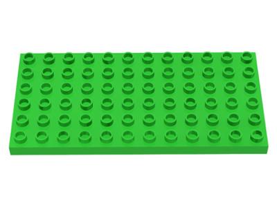 Duplo bouwplaat 6x12 licht groen