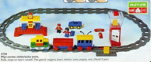 Duplo trein codesteen - actiesteen - achteruit