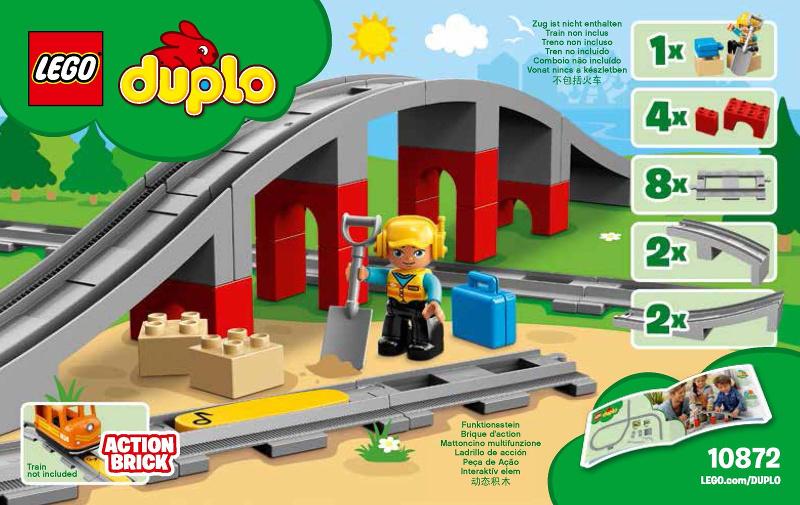 Lego Duplo trein 10875 10874 actiesteen met muzieknoot symbool