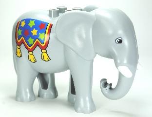 Duplo Circus olifant Volwassen met slagtand