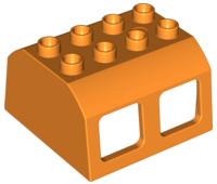 Duplo trein cabine dak oranje
