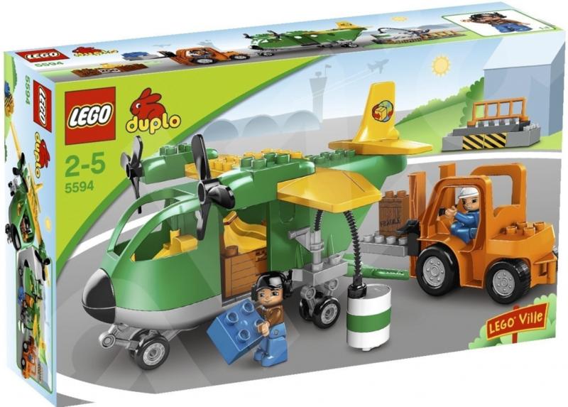 Duplo vrachtvliegtuig 5594 met doos