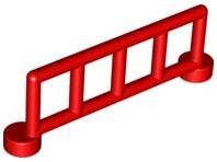 Duplo hekje rood met 5 staanders