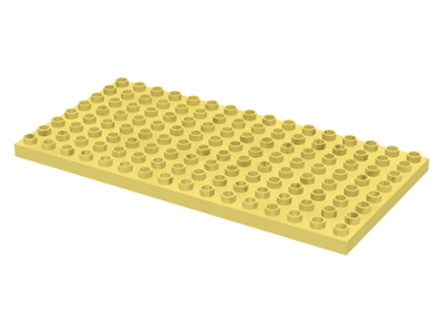Duplo bouwplaat 8x16 licht geel