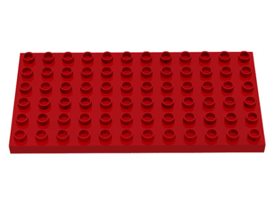 Duplo bouwplaat 6x12 rood