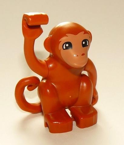 Lego Duplo dierentuin dieren bruin aapje nieuw